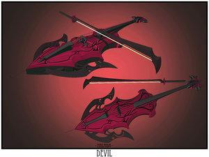 3ds max devil cello sword